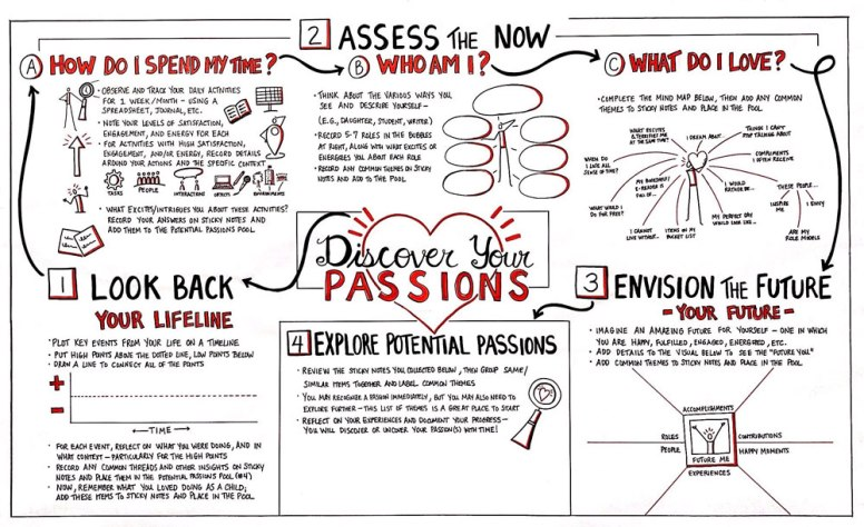 """Large-Scale """"Discover Your Passions"""" Visual Map and Template for a University's Major and Mission Program"""