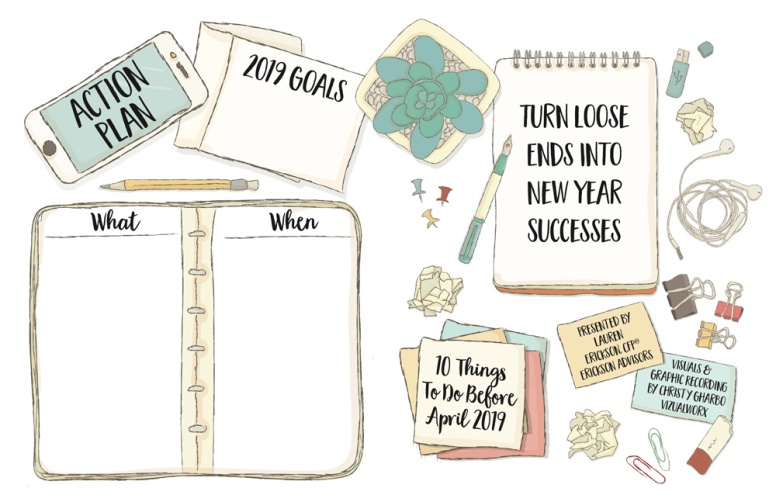 """Action Plan Template for """"Turn Loose Ends Into New Year Successes"""" Presentation"""